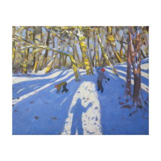 Winter Elvaston Castle 2008 Gallery Wrap Canvas