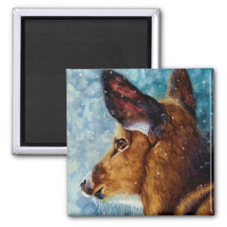 Winter Enchantment - Deer Magnet