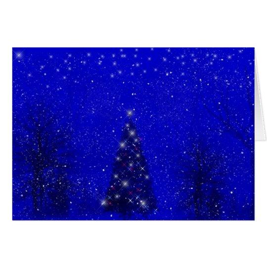 Winter Evening Christmas Card