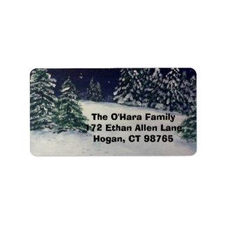 Winter Evening Label