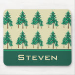 Winter Evergreens Outdoor Enthusiast Personalised Mouse Mats