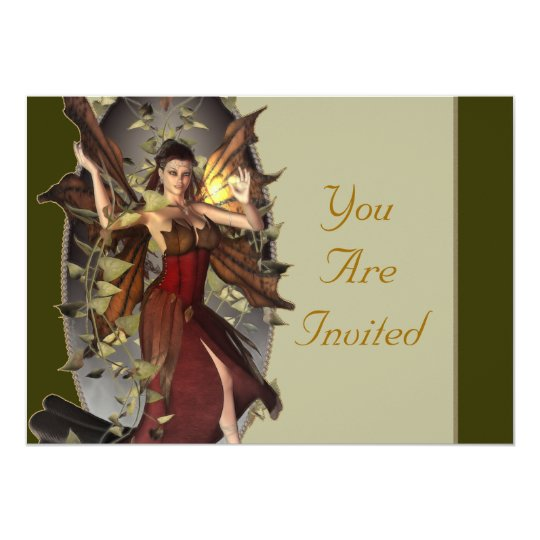 Winter Faerie Event Invites