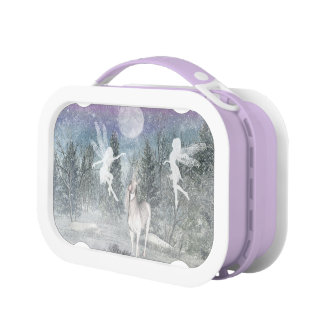 Winter fairy and unicorn friends Lunch Box