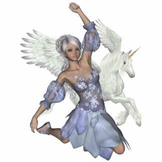 Winter Fairy Jules Unicorn Pegasi Beauty Photo Scu Standing Photo Sculpture