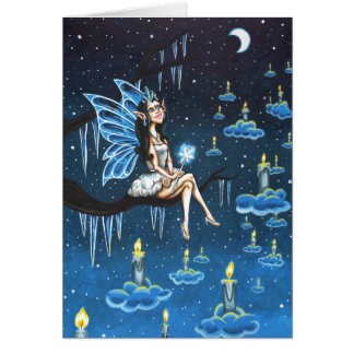 Winter Fairy Lights Card