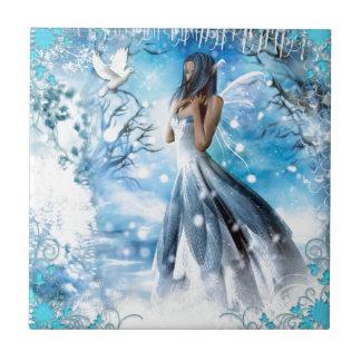 Winter Fairy Small Square Tile