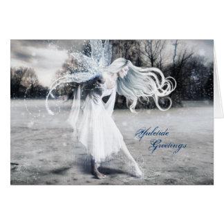 Winter Fairy Yule Greeting Card