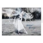 Winter Fairy Yule Greeting Cards