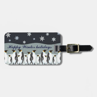 Winter fantasy luggage tag
