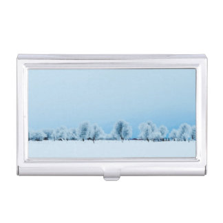 Winter Farm Business Card Holder