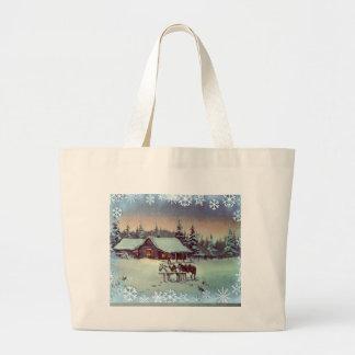 WINTER FARM  by SHARON SHARPE Jumbo Tote Bag