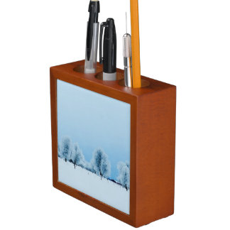 Winter Farm Desk Organiser