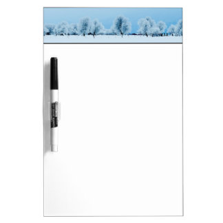 Winter Farm Dry Erase Board