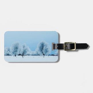 Winter Farm Luggage Tag