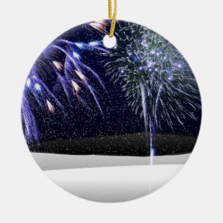 Winter Fireworks Christmas Ornament