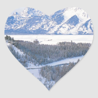 Winter First Snowfall Snake River Wyoming Stickers
