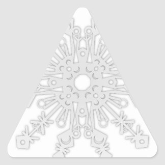 Winter Flake V Triangle Sticker