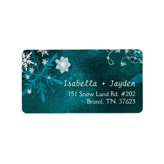 Winter Floral Boho Wedding Return Address Address Label