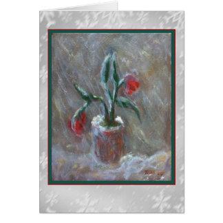 Winter Flowers Art Card