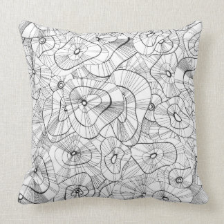 Winter flowers cushion
