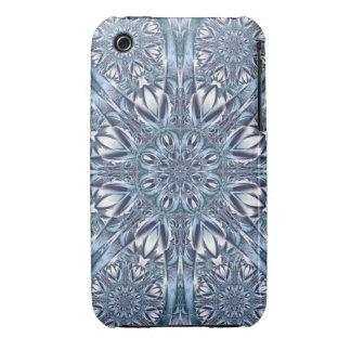 Winter flowers, decorative kaleidoscope Case-Mate iPhone 3 cases