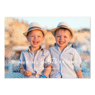 WINTER FLURRIES photo Christmas Card 13 Cm X 18 Cm Invitation Card