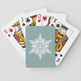 Winter flurry playing cards