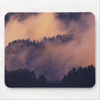 Winter fog in valley at sunset from Morton Mouse Pad