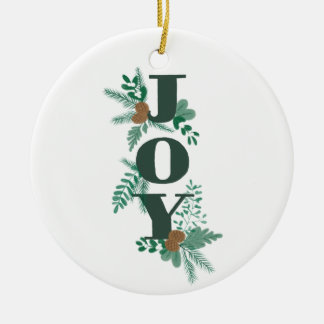 Winter Foliage Joy Ornament with Photo