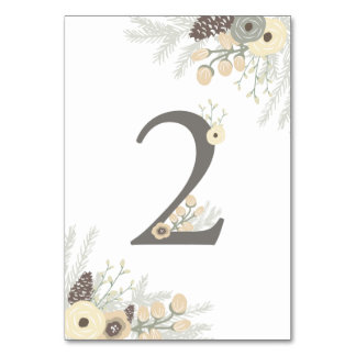 Winter Foliage Table Number 2 Card Table Cards