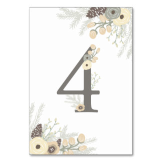 Winter Foliage Table Number 4 Card Table Cards