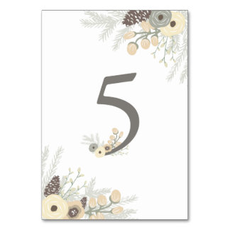 Winter Foliage Table Number 5 Card Table Cards