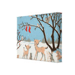 Winter Forest Animals Gallery Wrap Canvas
