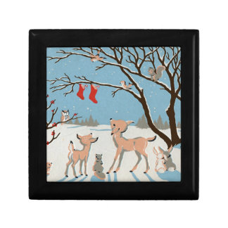 Winter Forest Animals Gift Box