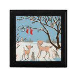 Winter Forest Animals Trinket Boxes