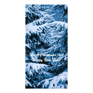 Winter Forest Christmas Tree Card