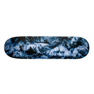 Winter Forest Christmas Tree Skate Deck