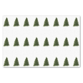 Winter Forest Christmas Trees Tissue Paper