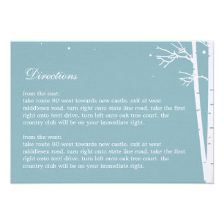 Winter Forest Directions Card Custom Announcements