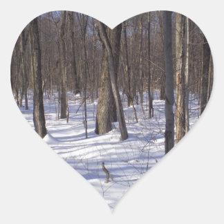 Winter Forest Heart Sticker