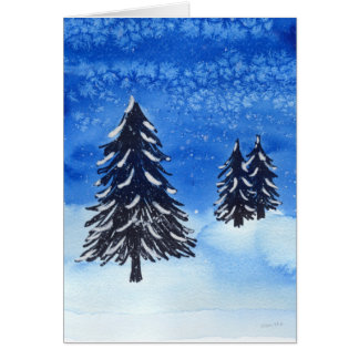 Winter Forest Holiday Card