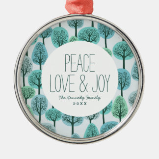 Winter Forest Pattern Christmas Ornament
