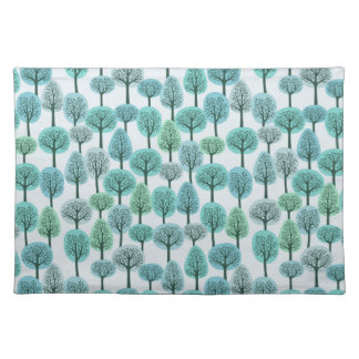 Winter Forest Pattern Placemat