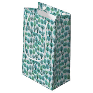 Winter Forest Pattern Small Gift Bag