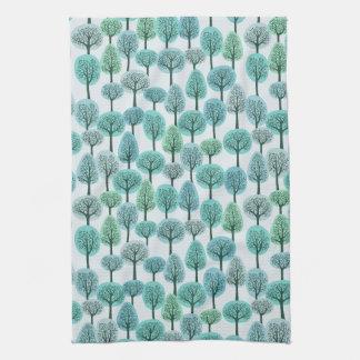 Winter Forest Pattern Tea Towel