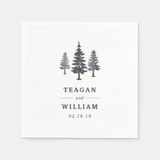 Winter Forest | Personalized Wedding Paper Serviettes