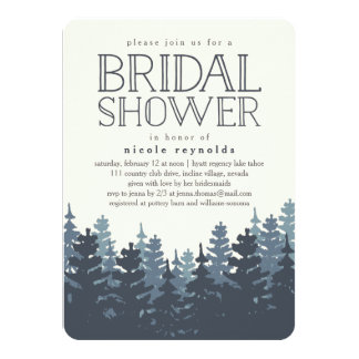 Winter Forest Rustic Bridal Shower Invitation