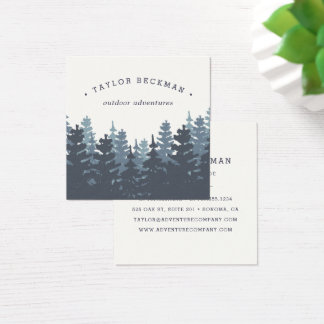 Winter Forest Square Business Card