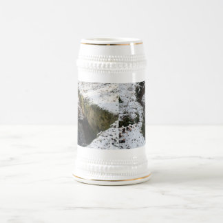 Winter Forest Water Reflection Mugs