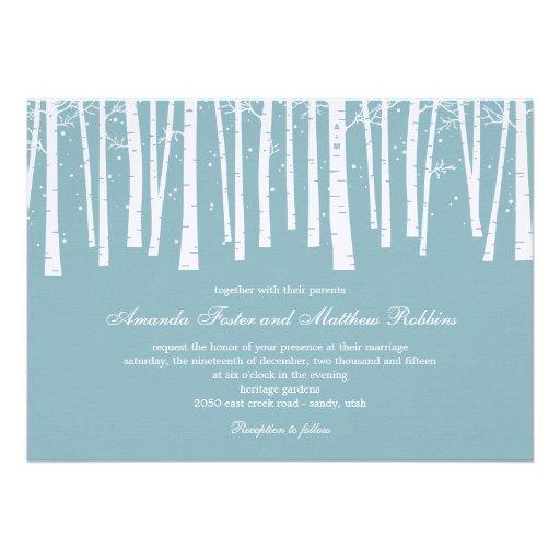 Winter Forest Wedding Invitations Personalized Invites